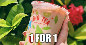 LiHO is offering 1-for-1 Da Hong Pao Milk Tea at One Raffles Place outlet till 30 October 2020