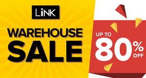 Link Warehouse Sale – Up to 80% off shoes, bags, accessories and apparels! From 24 – 27 September 2020