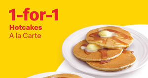McDonald's will be offering 1-for-1 Hotcakes from 1 – 4 October 2020
