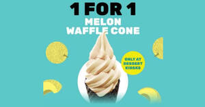 Featured image for McDonald's: 1-for-1 Melon Waffle Cone at Dessert Kiosks till 4 October 2020