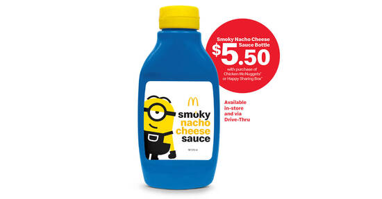 Featured image for McDonald's offering Smoky Nacho Cheese Sauce in a bottle for $5.50 (From 17 Sept 2020)