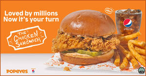 Popeyes World Famous Chicken Sandwich is now available in Singapore (From 16 Sept 2020)