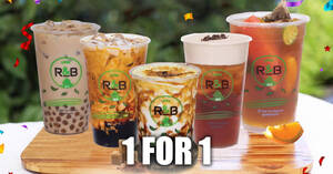 R&B Tea: 1-for-1 Large Drinks at Change Alley Mall (formerly Chervon House) from 1 – 5 October 2020