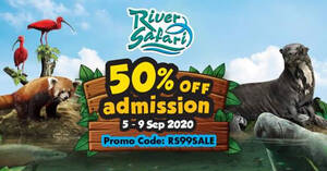 Featured image for River Safari: 50% off Adult/Child admission FLASH sale for visits from 5 Sep to 7 Dec! Book by 9 Sep 2020