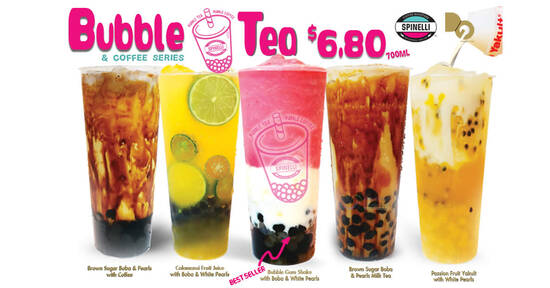 Featured image for Spinelli Coffee Company: Buy-2-Get-1-Free Bubble Tea & Coffee series beverages at all outlets from 29 Sep 2020