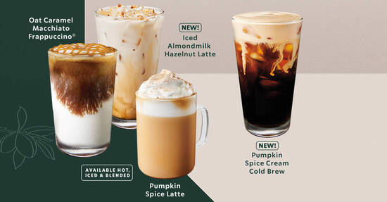 Featured image for Starbucks: Pumpkin Spice is returning along with other new beverages from 9 September 2020
