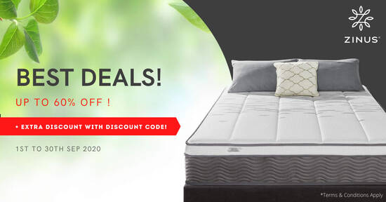Featured image for Zinus Mattress from $109. Zinus Mattress and Bedframe Package from $368
