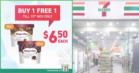 Featured image for 7-Eleven: Buy-1-Get-1-Free Häagen-Dazs Mini Cups & more ice cream deals till 10 Nov 2020