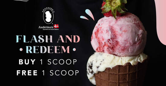 Featured image for Andersen's of Denmark: 1-for-1 scoops at Westgate outlet from 17 - 18 October 2020