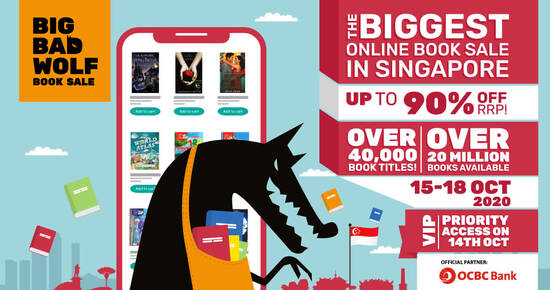 Featured image for Up to 90% OFF all books at Big Bad Wolf Books online sale from 15 - 18 October 2020