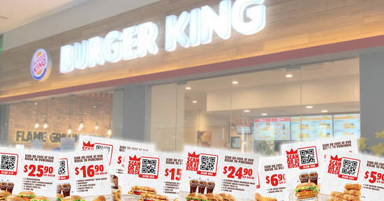 Featured image for Burger King: Here are 10 e-coupons you can use to save up to $16.3 till 31 December 2020
