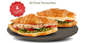 (Sold Out) Delifrance: $4.90 Classic Sandwich Croissant with Egg / Chicken / Tuna or Seafood deal (From 18 Oct 2020)