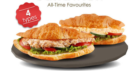 Featured image for (Sold Out) Delifrance: $4.90 Classic Sandwich Croissant with Egg / Chicken / Tuna or Seafood deal (From 18 Oct 2020)