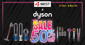 Dyson Exclusive Sale up to 50% off from 27 October to 2 November 2020