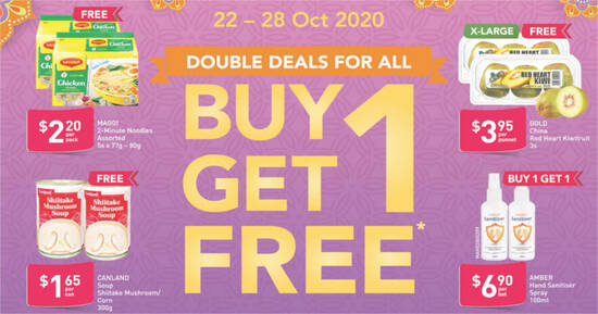 Featured image for Fairprice is offering 1-for-1 Maggi 2-Minute Noodles and more till 28 October 2020