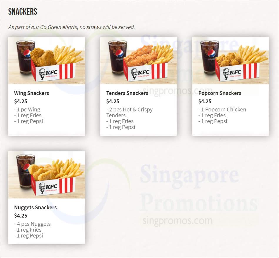 KFC Dine-In Menu Prices as of 12 October 2020