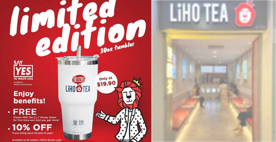 Featured image for LiHO: Enjoy 10% off total bill if you buy and bring back the Limited Edition LiHO TEA Tumbler (From 6 Oct 2020)