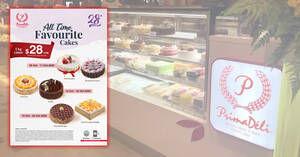 PrimaDeli is offering 1kg cakes at just $28 each (U.P. $43.80) till 25 October 2020