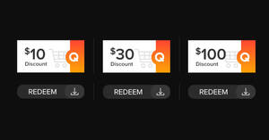 Featured image for Qoo10: Super Sale – grab $10, $30 & $100 cart coupons daily till 10 August 2021