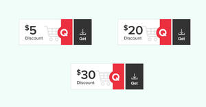 Qoo10: Super Weekend Coupons – grab $5, $20 & $30 cart coupons daily till 1 Nov 2020