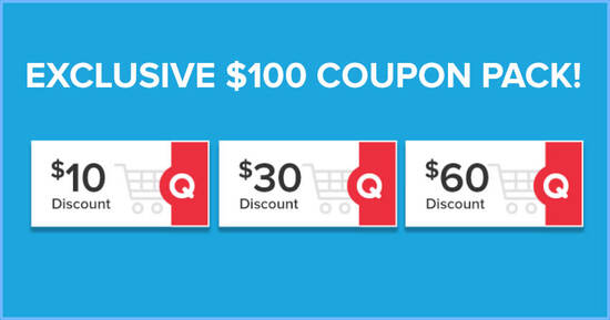Featured image for Qoo10 10.10 Birthday Bash Promotion - Grab $10, $30 & $60 cart coupons daily till 12 October 2020