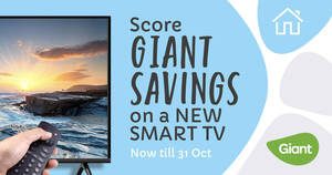 Score GIANT SAVINGS On A New Smart TV (Now till 31 Oct 2020)