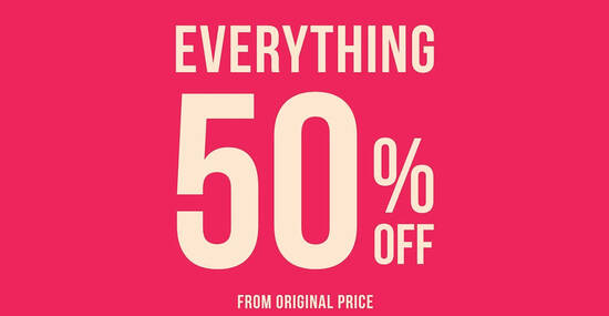 Featured image for TEMT is throwing 50% off everything at all outlets from 8 October 2020