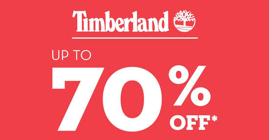 Featured image for Up to 70% off Timberland Bazaar at Takashimaya now on till 25 October 2020