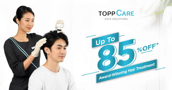 Featured image for Up to 85% off Award-Winning Hair Loss Prevention Treatment (1 Nov - 31 Dec 2020)