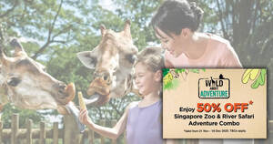 Featured image for Enjoy 50% OFF Singapore Zoo & River Safari Adventure Combo for visits from 21 Nov – 18 Dec 2020