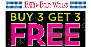 Bath & Body Works: Buy-3-Get-3-Free storewide Black Friday promo from 26 – 29 Nov 2020