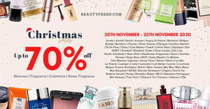 Beautyfresh Online Warehouse Sale up to 70% off La Mer, Estee Lauder, Shiseido & more from 20 – 25 Nov 2020