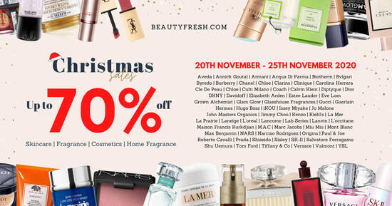 Featured image for Beautyfresh Online Warehouse Sale up to 70% off La Mer, Estee Lauder, Shiseido & more from 20 - 25 Nov 2020