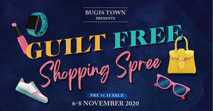 Featured image for Bugis Town Presents Guilt Free Shopping Spree from 6 – 8 Nov 2020