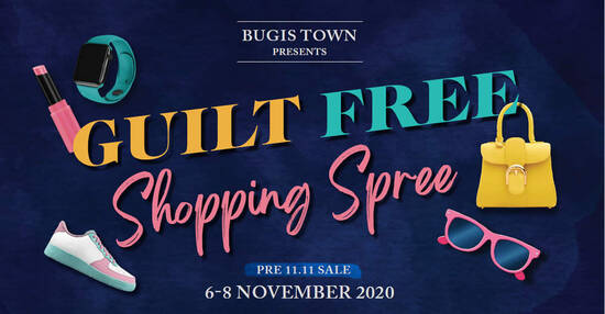 Featured image for Bugis Town Presents Guilt Free Shopping Spree from 6 - 8 Nov 2020