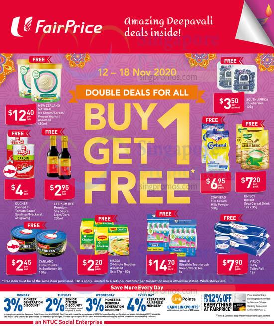 Fairprice is offering 12 Nov 2020