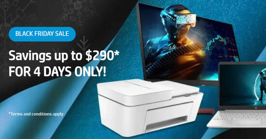 Featured image for HP S'pore's Black Friday Sale offers savings of up to $290 till 30 November 2020