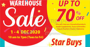 HST Medical Up To 70% Off Warehouse Sale from 1 – 4 Dec 2020