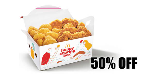 Featured image for McDelivery: Get 50% off Happy Sharing Box® A with this code valid till 8 Nov 2020