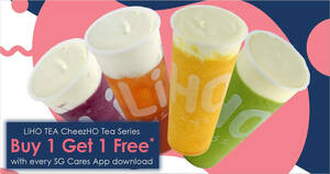 LiHO: Buy-1-Get-1-Free LiHO TEA Signature CheezHO Tea drink at any outlet on 2 Dec 2020