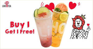Featured image for LiHO is offering Buy-1-Get-1-Free drinks at Millenia Walk outlet till 26 Nov 2020