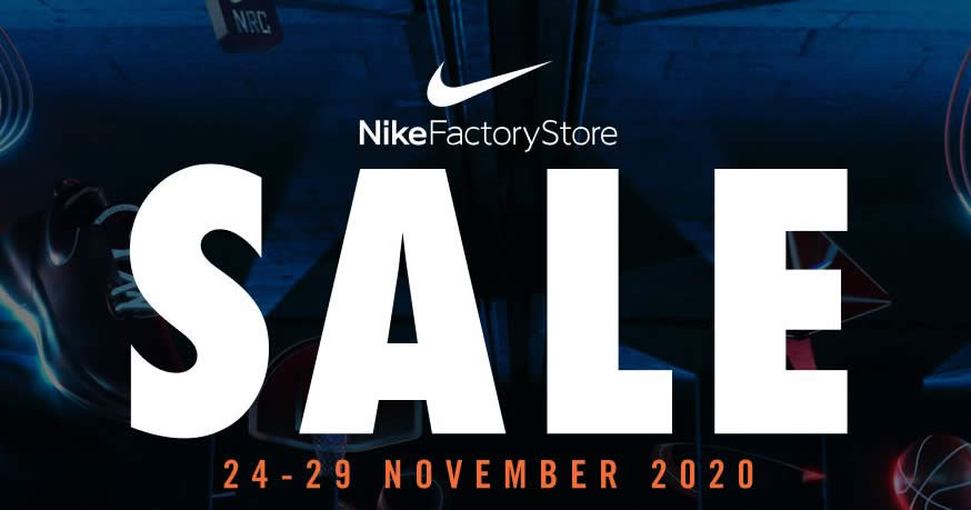 Featured image for Nike Factory Store Up To 40% off Storewide Sale at IMM till 29 Nov 2020
