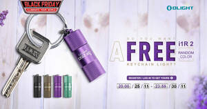 FREE Flashlight for Everyone* Olight 2020 Black Friday Up To 45% OFF from 25 Nov 8pm – 30 Nov 2020 11:59pm