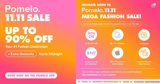 Featured image for POMELO 11.11 SALE: Up to 90% off online and In-store + win iPhone 12 Pro!