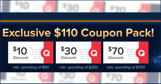 Featured image for Qoo10: 11.11 Sale - grab $10, $30 & $70 cart coupons daily till 12 Nov 2020