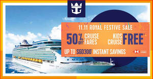 Featured image for Royal Caribbean: 11.11 Royal Festive Sale offers cruises from $311 after discounts (From 11 Nov 2020)