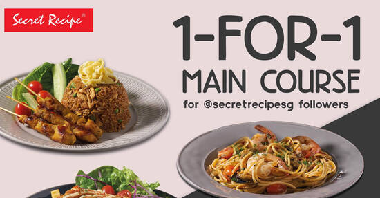 Featured image for Secret Recipe Singapore to offer 1-for-1 all mains on 11 Nov 2020