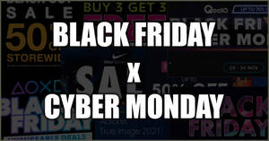 (Updated 26 Nov 13:55pm) Singapore 2020 Black Friday x Cyber Monday hottest sales, deals and promotions!