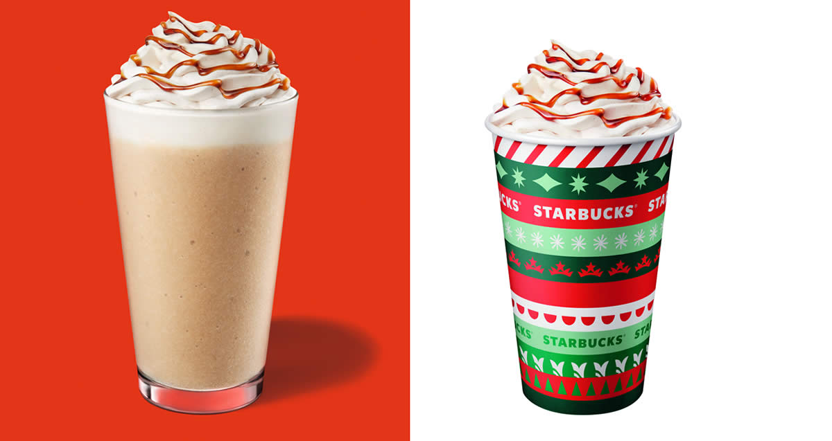 Featured image for Starbucks Gingerbread Latte returns from 30 Nov 2020; Christmas Open House on 3 Dec