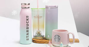 Starbucks Pastel Collection with hues of pastel pink and purple will be available from 30 Nov 2020
